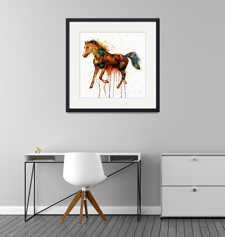"""""""Watercolor Horse""""  (2014) by MarianVoicu"""