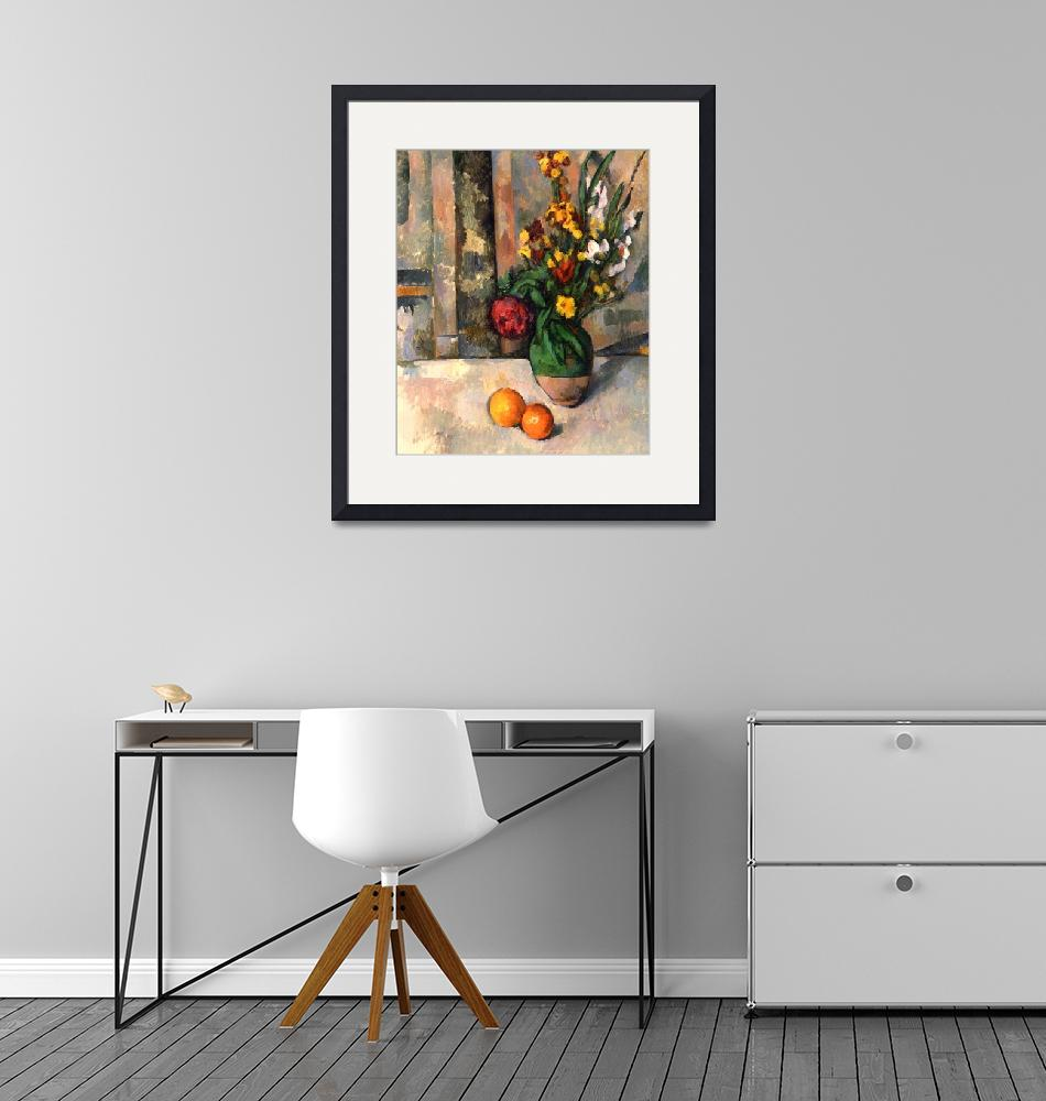 """Stillife with apples and flowers""  by ArtLoversOnline"