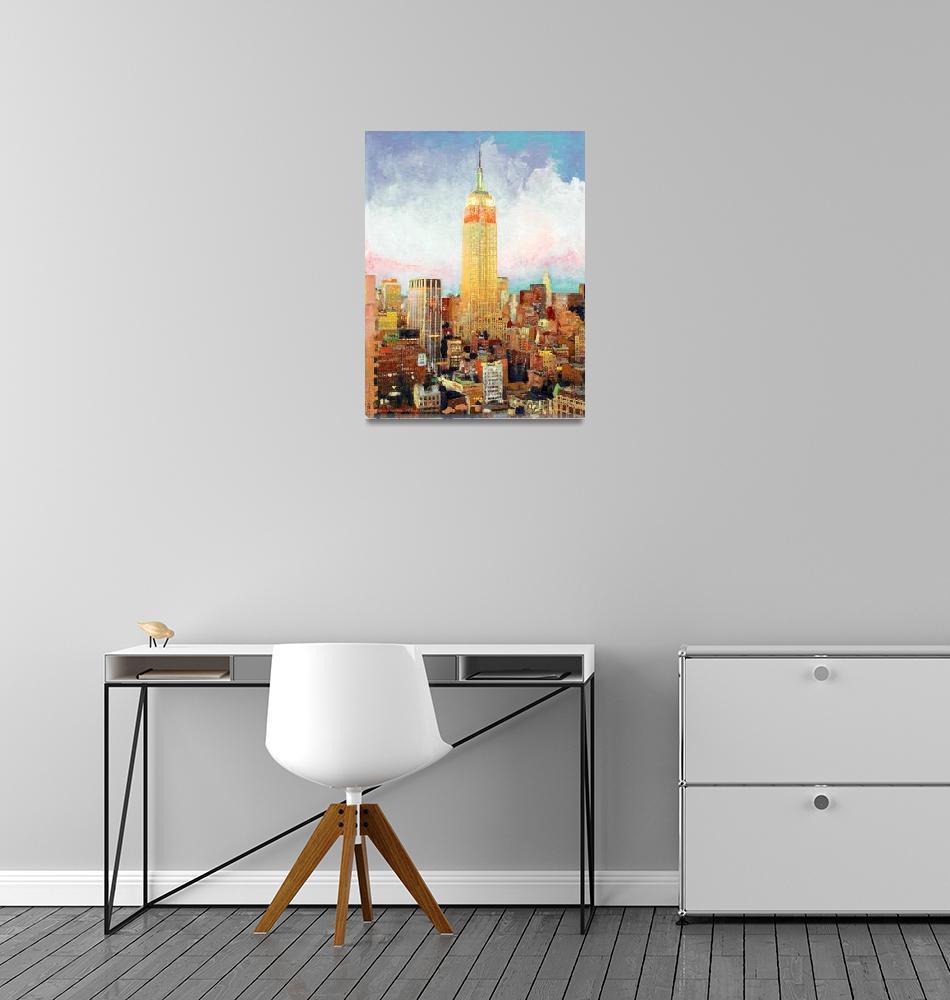 """Manhattan Dawn, Empire State Building, New York""  (2007) by RDRiccoboni"