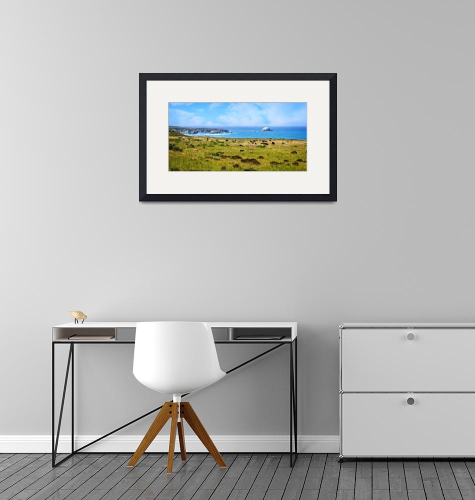 """""""Central Coast Panorama - Hwy 1""""  (2016) by LynnBauer"""
