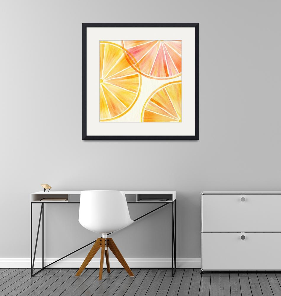 """""""Oranges and Lemons Watercolor""""  (2018) by moderntropical"""