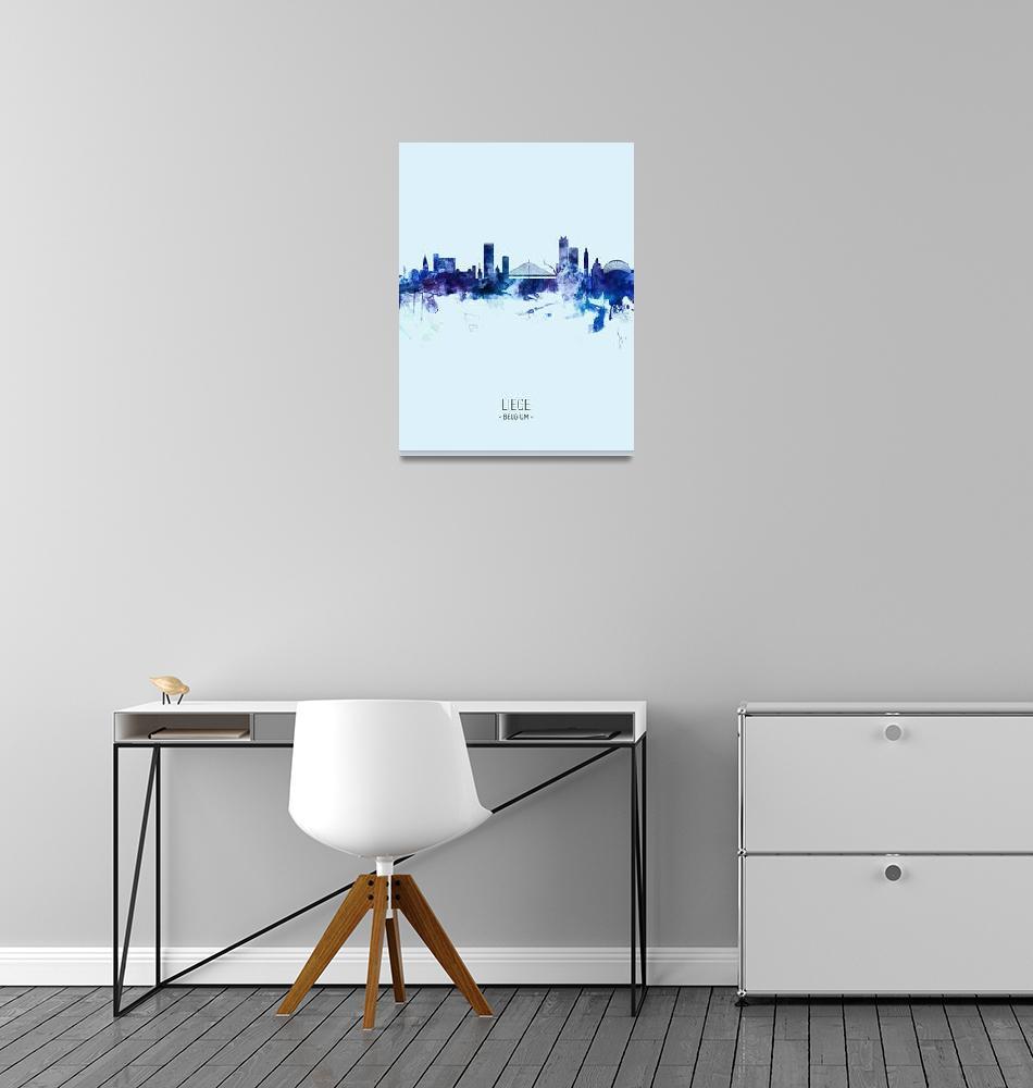 """""""Liege Belgium Skyline""""  (2019) by ModernArtPrints"""