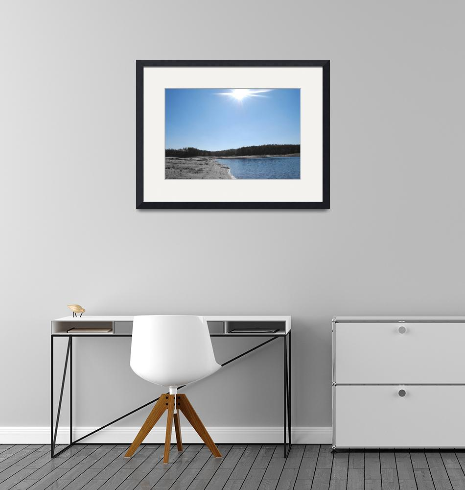 """""""Sun with Blue Sky & Water-color with B&W""""  (2009) by seacat"""