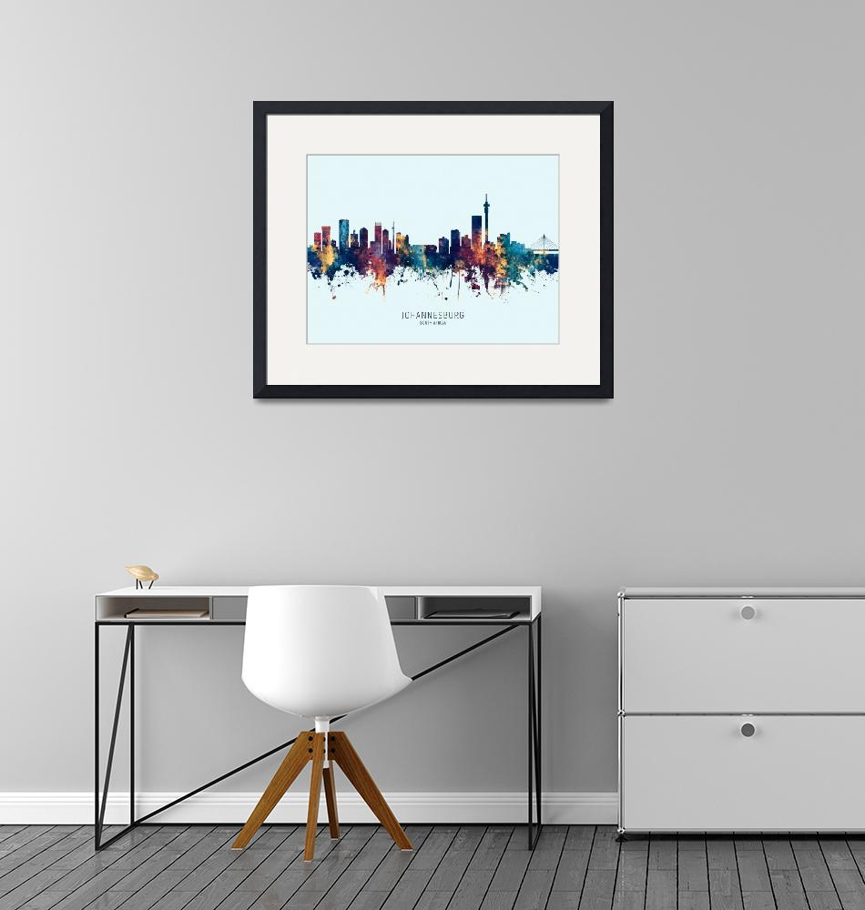 """Johannesburg South Africa Skyline""  (2019) by ModernArtPrints"