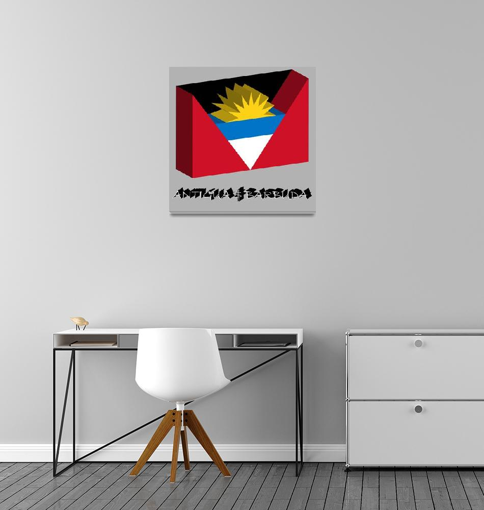 """antigua and barbuda 3d flag""  by robertosch"