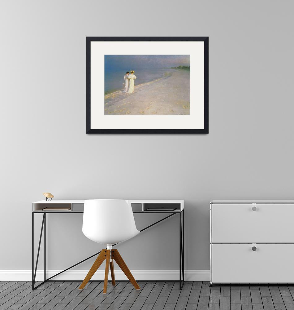 """Summer Evening on the Skagen Southern Beach with A""  by fineartmasters"