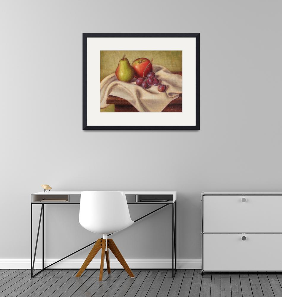 """""""Pear, Apple, and Grapes""""  (2008) by tbezesky"""