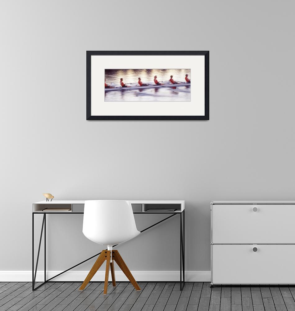 """""""Women rowing boat""""  by Panoramic_Images"""