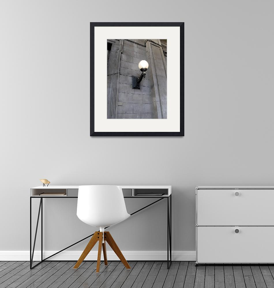 """""""Old Street Light on a Wall""""  (2009) by Alvimann"""