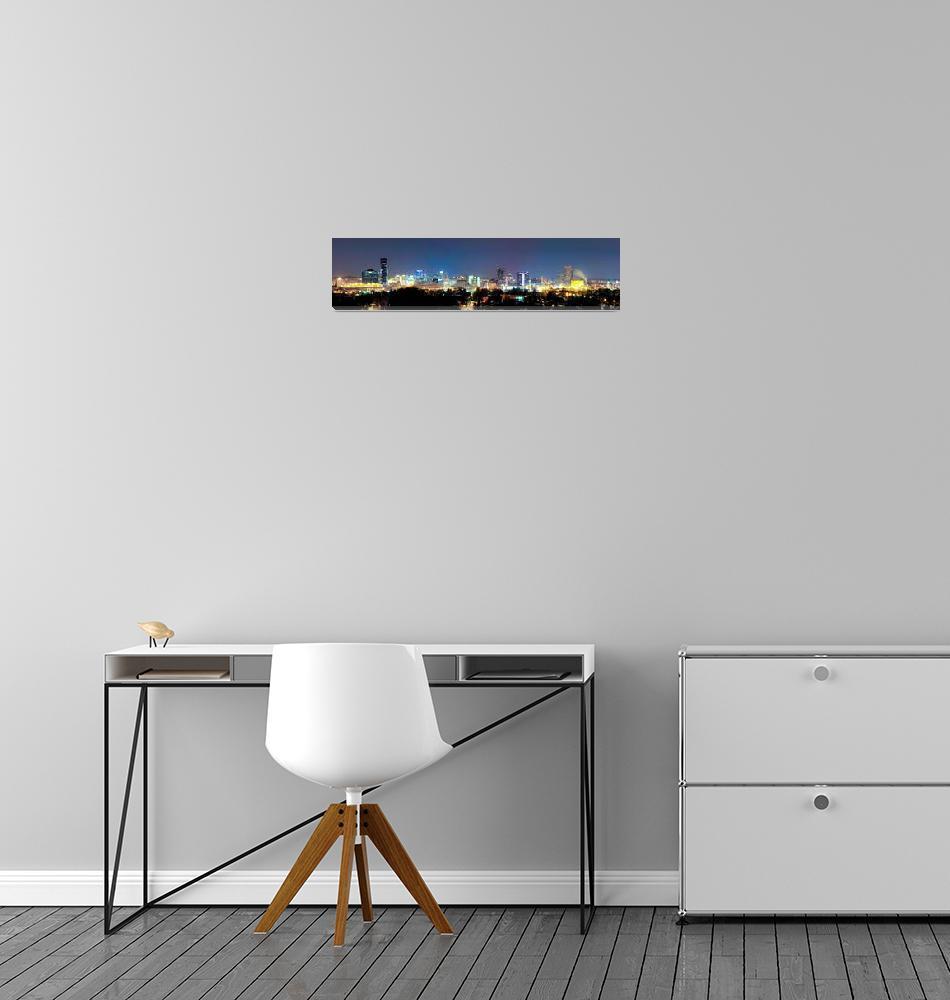 """Grand Rapids Skyline""  by NightFoxPhoto"