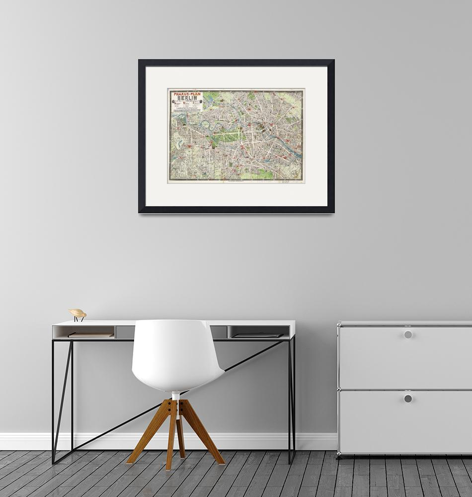 """""""Vintage Map of Berlin Germany (1905)"""" by Alleycatshirts"""
