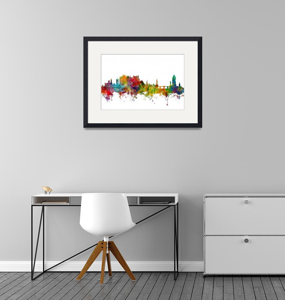 """Stirling Scotland Skyline""  (2018) by ModernArtPrints"