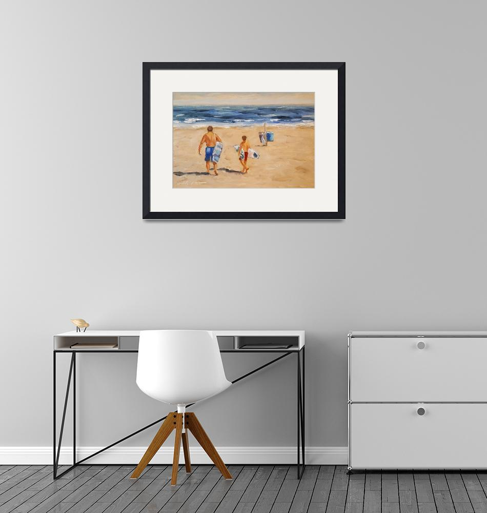 """""""Father and Son Day at the Beach"""" by ShelleyKoopmann"""