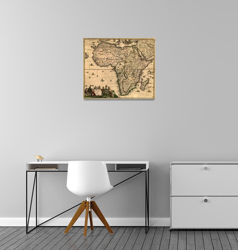 """""""Vintage Map of Africa (1688)""""  by Alleycatshirts"""