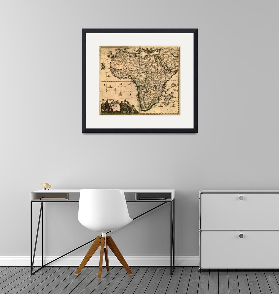 """Vintage Map of Africa (1688)""  by Alleycatshirts"