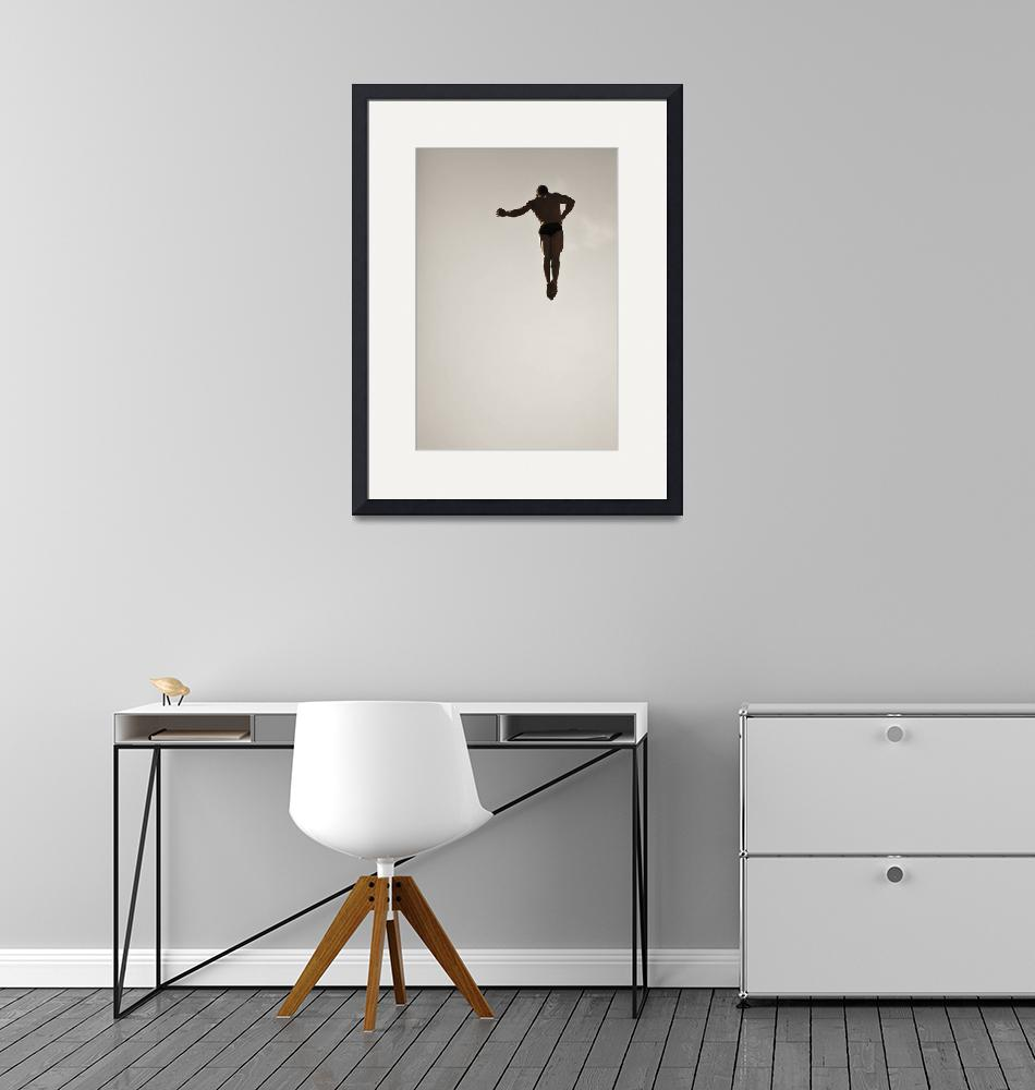"""""""Cliff diving """"dancing in the air""""""""  (2011) by VivianGerogianni"""
