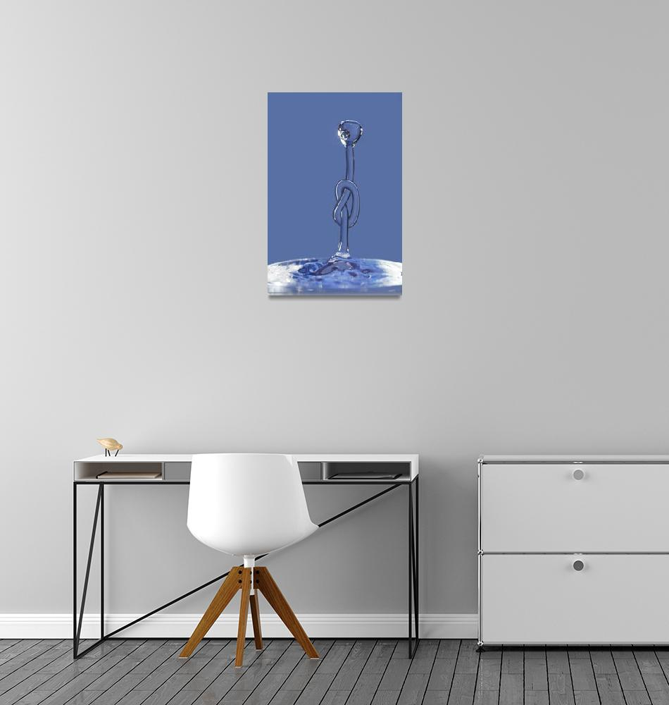 """""""Knot on the water splash""""  (2010) by lamich"""