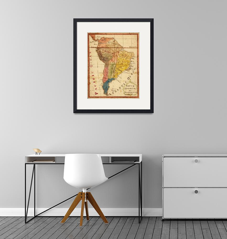 """Vintage Map of South America (1816)""  by Alleycatshirts"