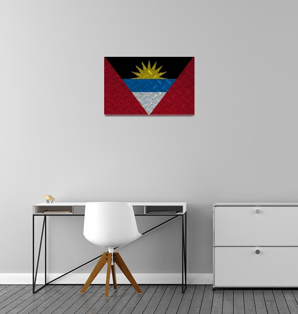 """ANTIGUA AND BARBUDA-FLAG 2""  (2014) by thegriffinpassant"