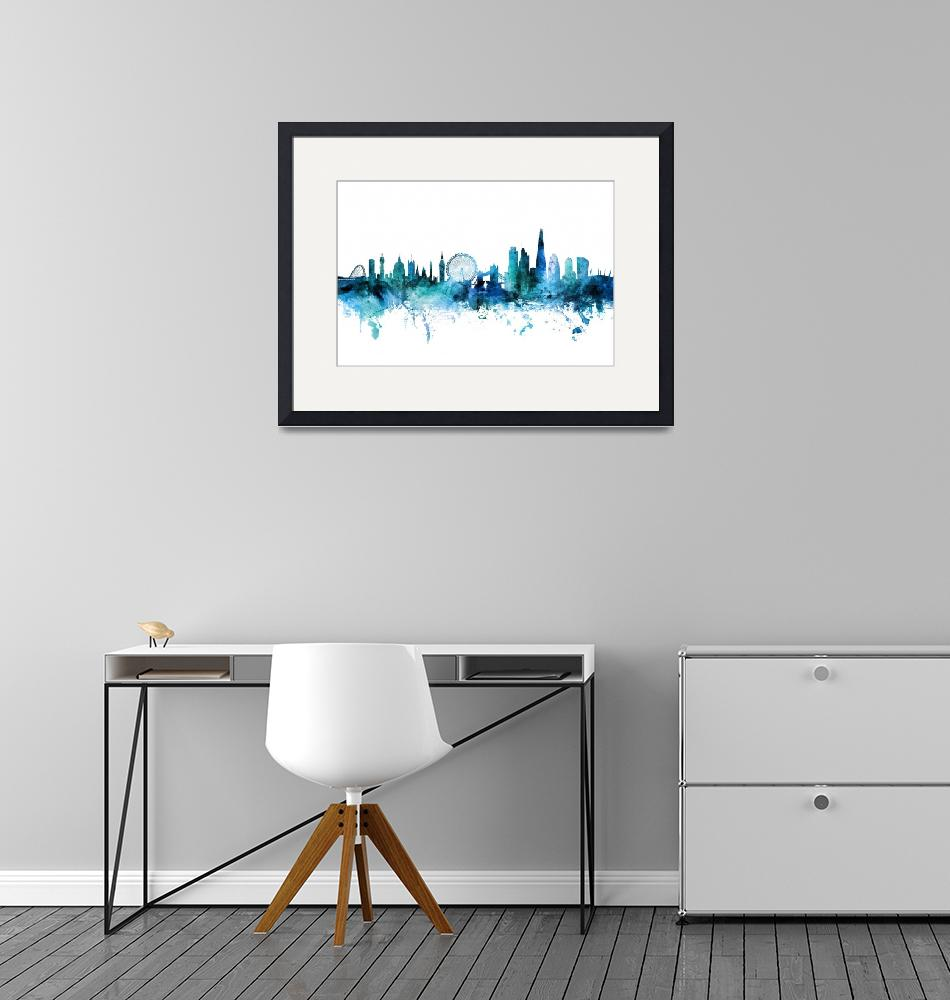 """London England Skyline""  (2017) by ModernArtPrints"