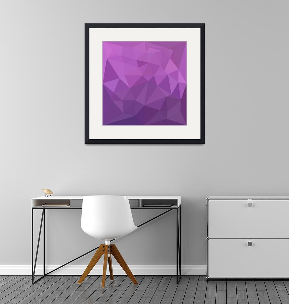 """Plum Purple Abstract Low Polygon Background""  (2016) by patrimonio"