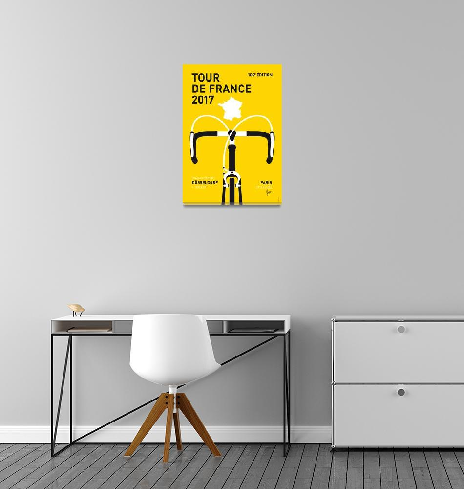 """""""MY TOUR DE FRANCE MINIMAL POSTER 2017""""  by Chungkong"""