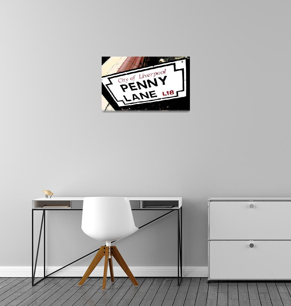 """Penny Lane Sign""  (2015) by brianraggatt"