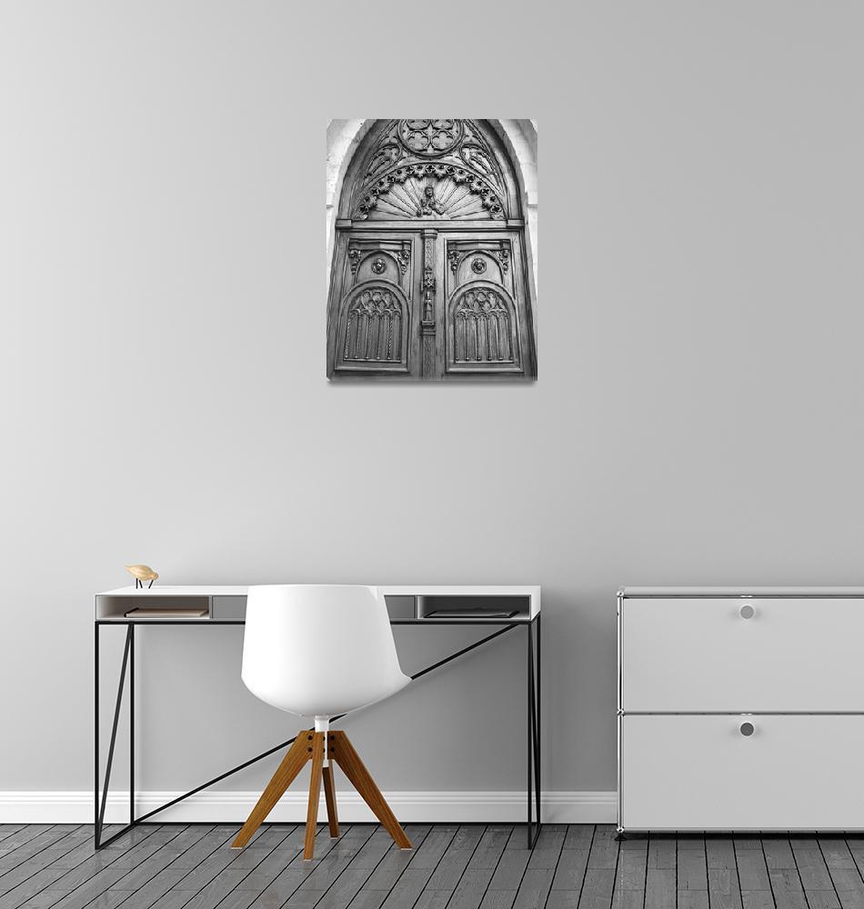 """""""Wooden Church Door""""  (2015) by favianroldan"""