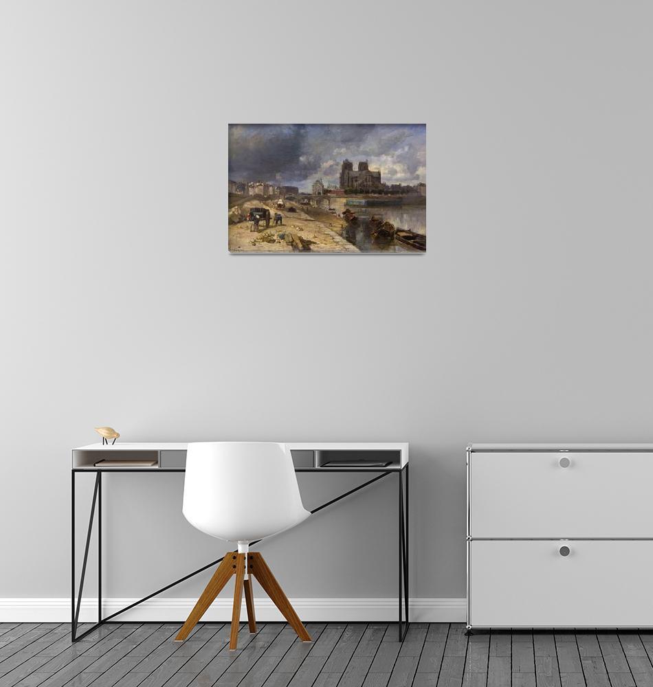 """Paris, Notre Dame by Albert Labourg""  by FineArtClassics"