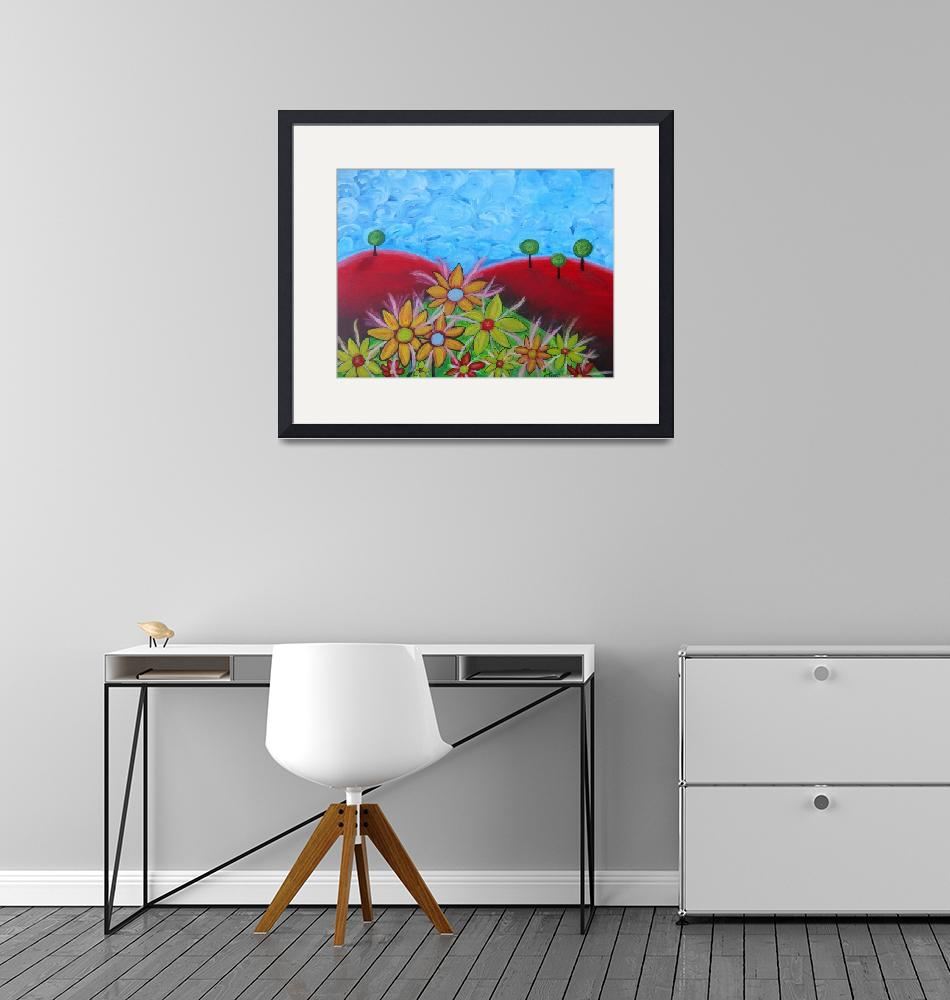 """""""Flowers on red hills""""  (2010) by ClaudiaTuli"""