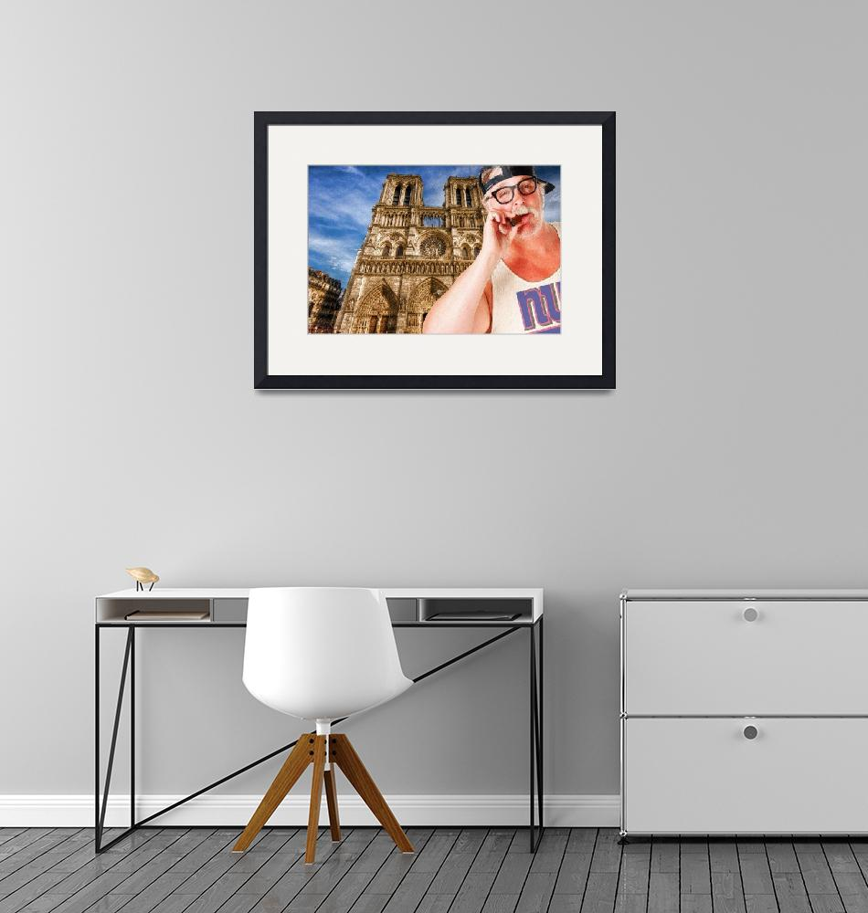 """""""An American In Paris Notre Dame""""  (2017) by RubinoFineArt"""