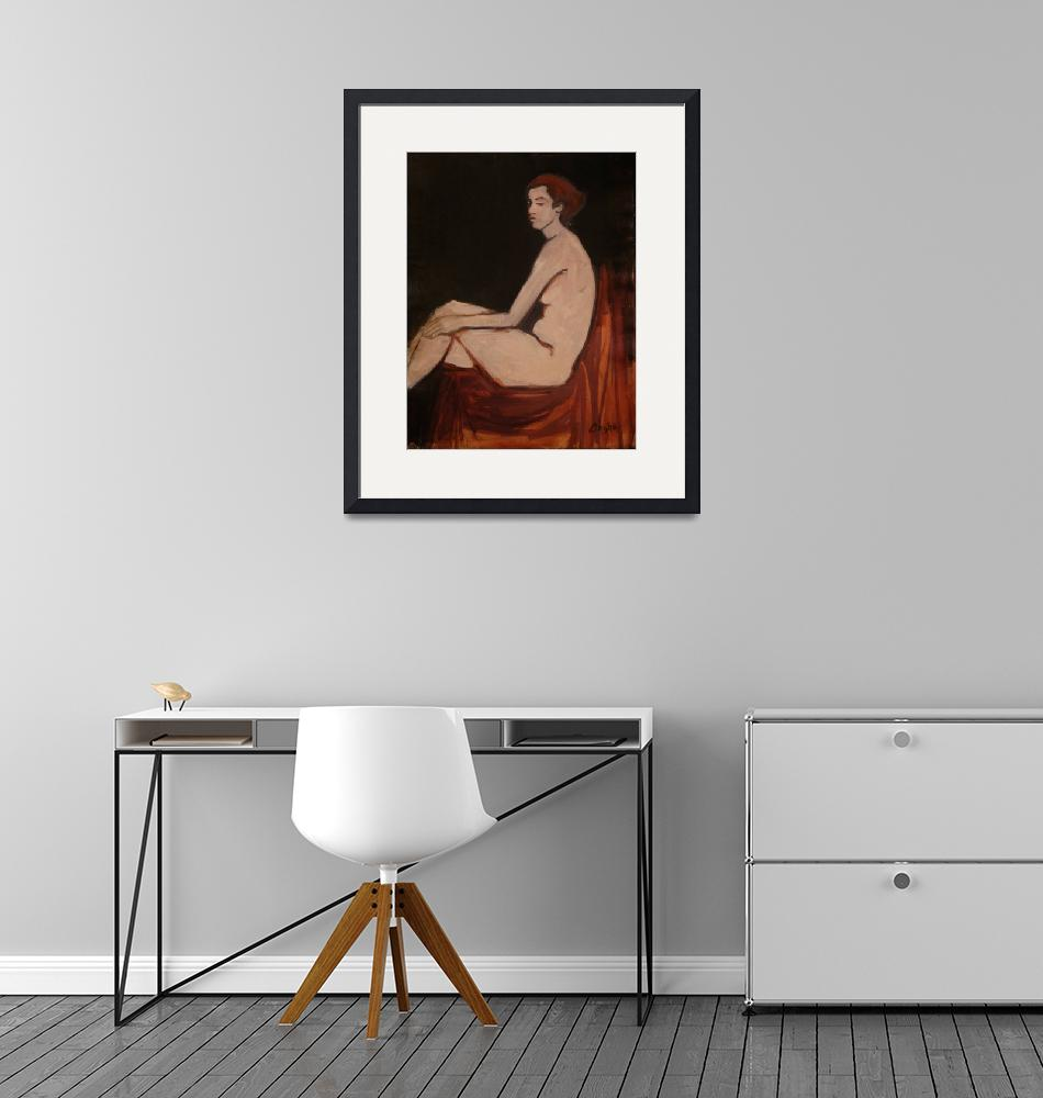 """""""Seated Female Nude""""  (2012) by angelaooghe"""
