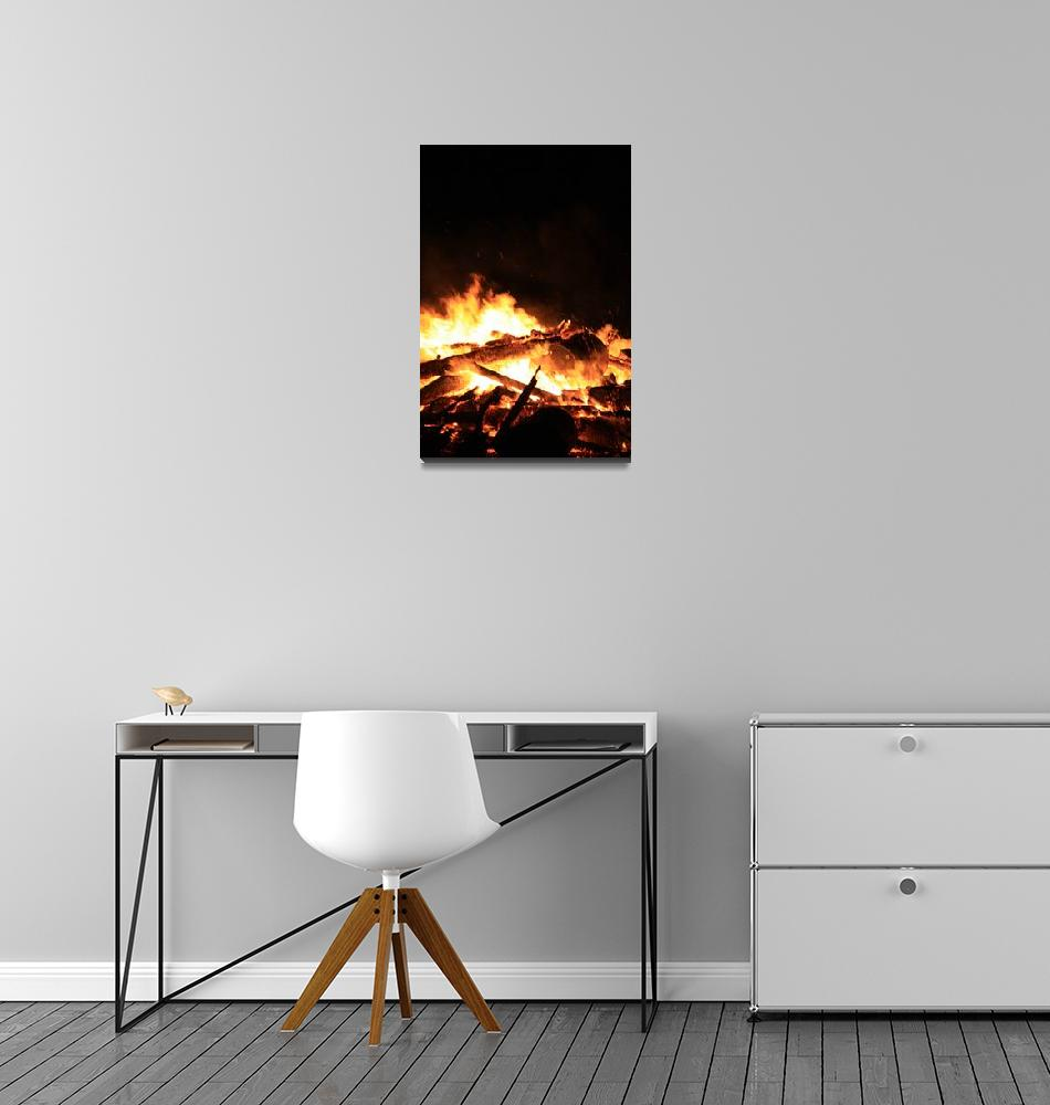 """North Beach Bonfire 1""  (2009) by dmarshall"