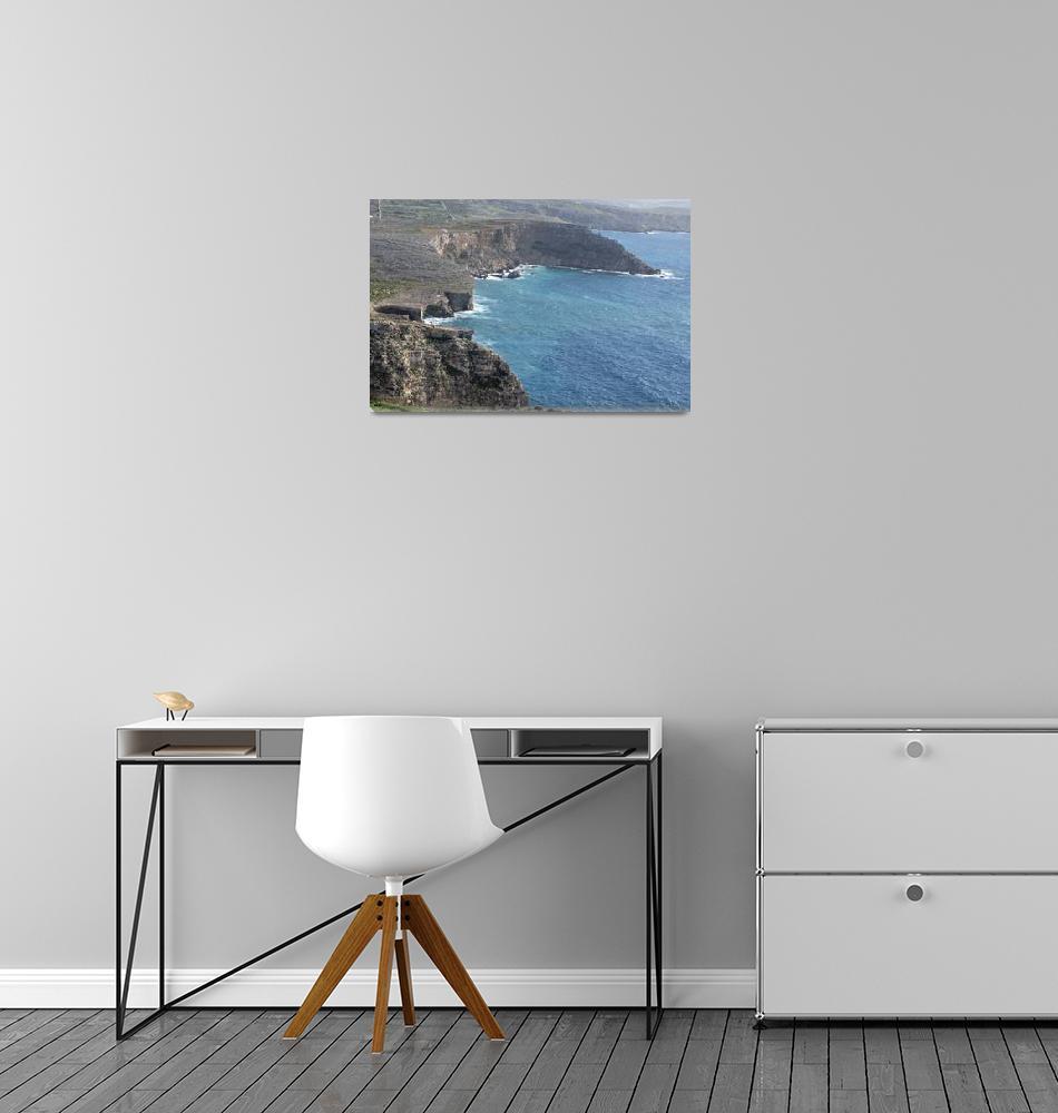 """""""Malta Mediterranean Sea - calm and serenity view""""  (2018) by ovicor"""