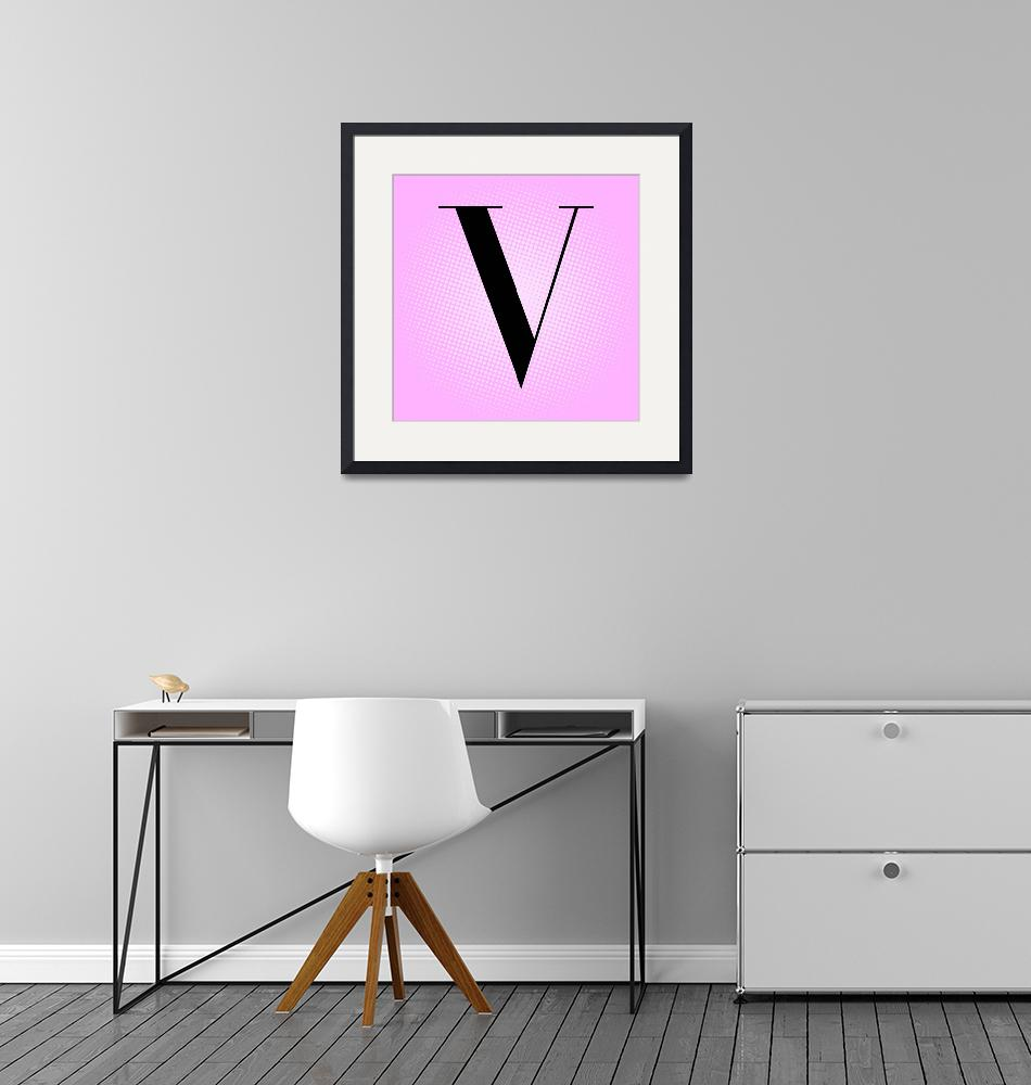 """V-VOGUE""  by LetterPopArt"