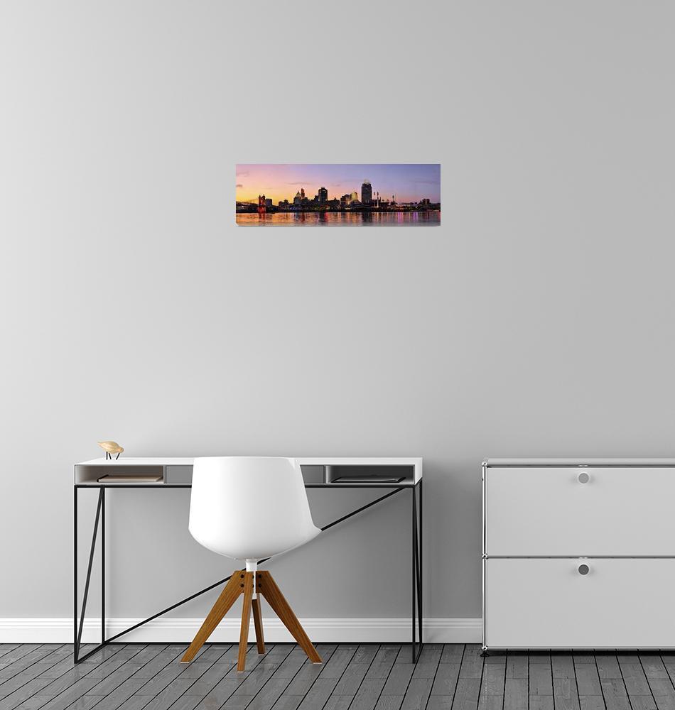 """Cincinnati Riverfront Sunset""  by ChrisThompson"