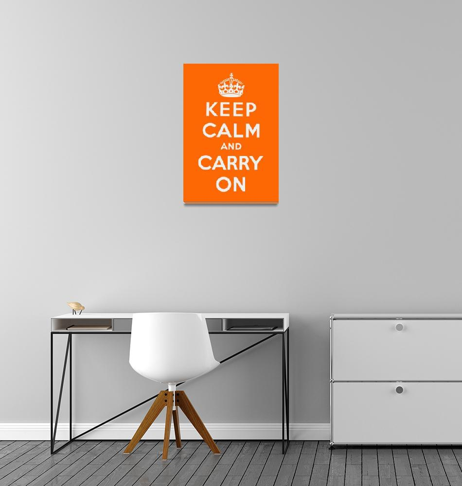 """Orange Keep Calm And Carry On 1""  by oldies"