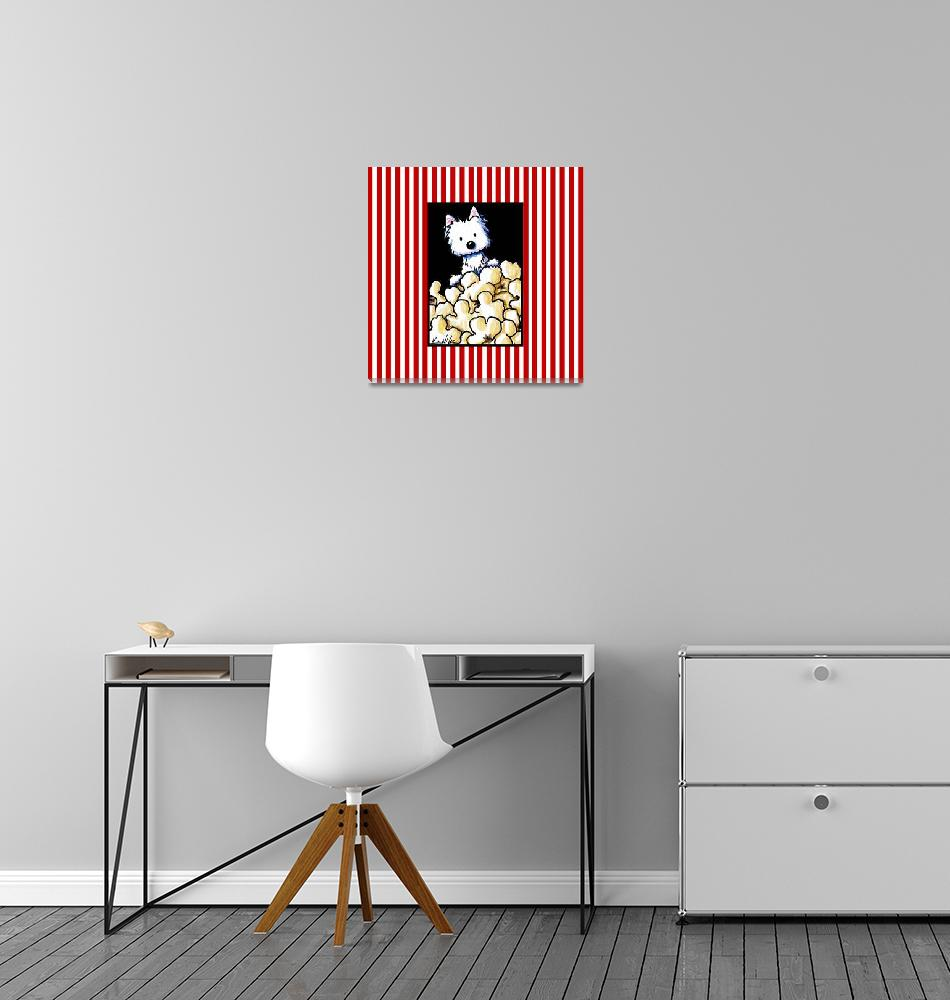 """""""Popcorn Westie"""" (2012) by KiniArt"""