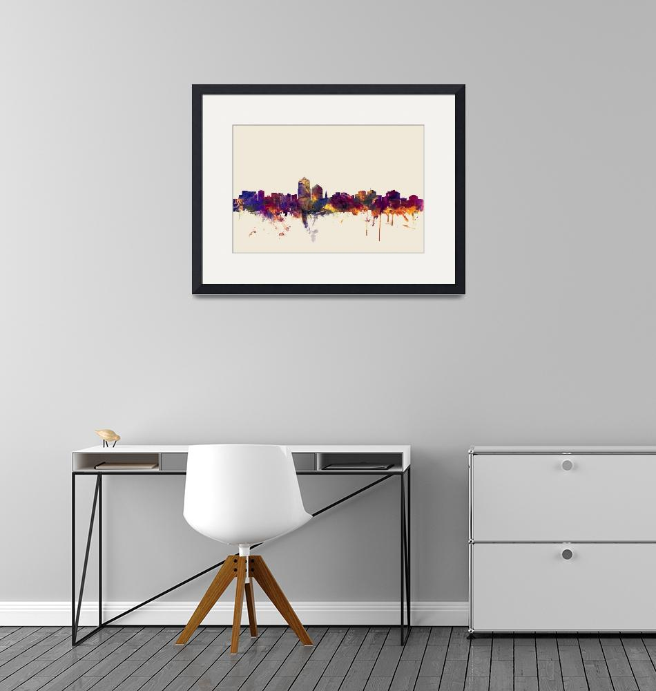 """Albuquerque New Mexico Skyline""  (2015) by ModernArtPrints"
