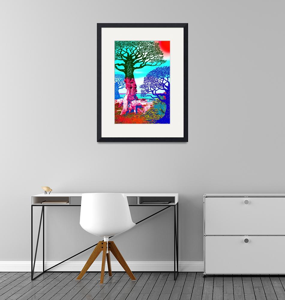 """""""If A Tree Falls In Sicily Color 3""""  (2018) by RubinoFineArt"""