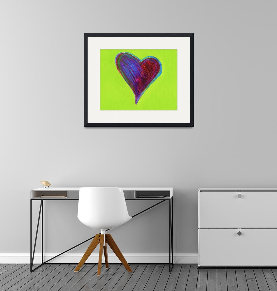"""""""PAINTERLY HEART""""  (2009) by sageworks"""