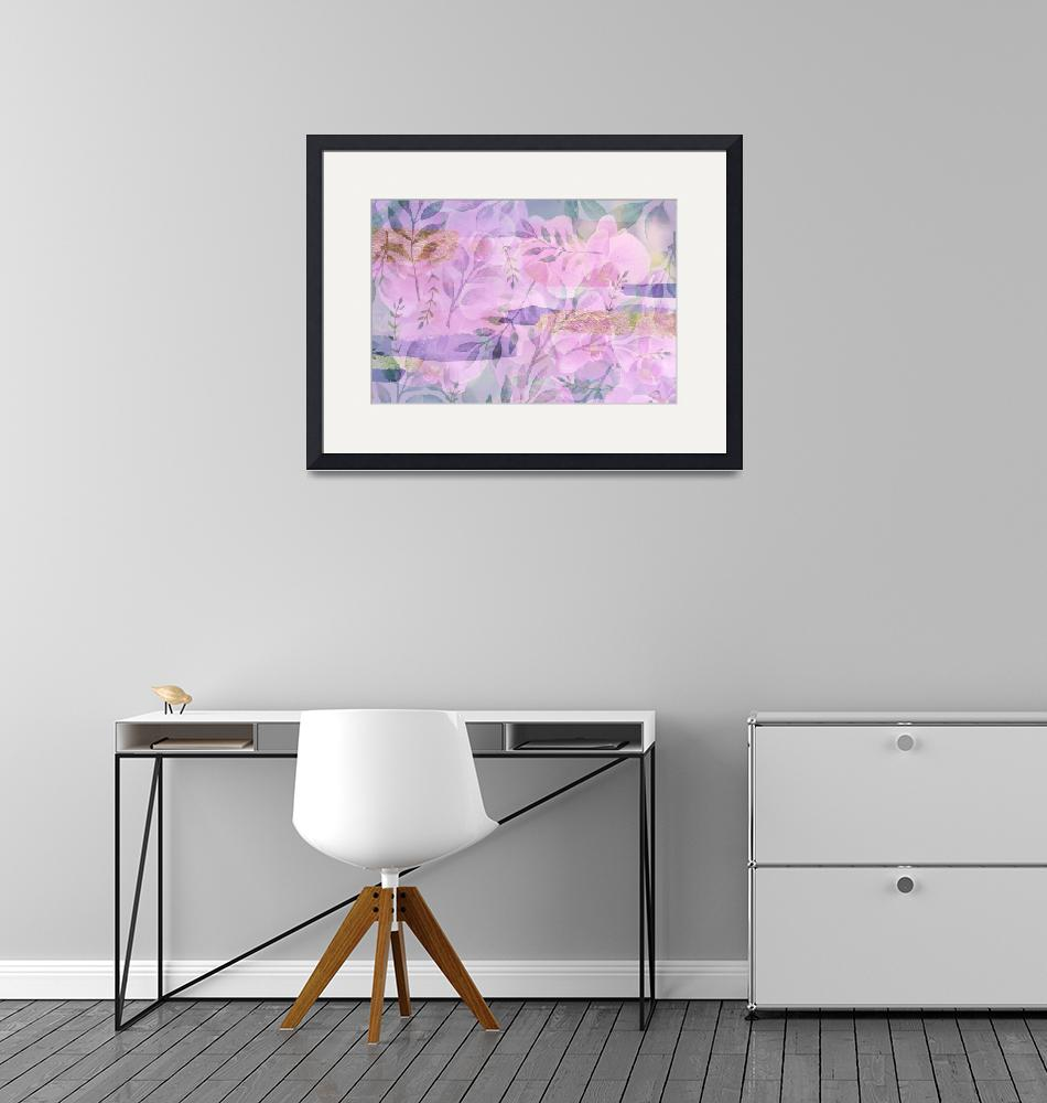 """""""Soft Pink and Purple Botanical""""  (2020) by Groecar"""