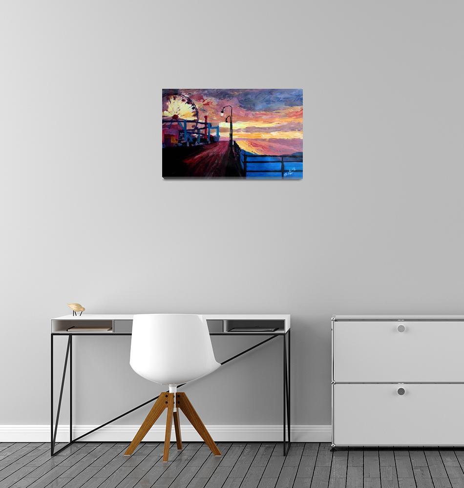 """Santa Monica Pier At Dawn""  (2013) by arthop77"