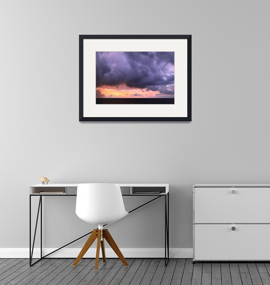 """""""Storm Clouds at Dawn on the Old Bahamas Channel""""  (2016) by RoupenBaker"""