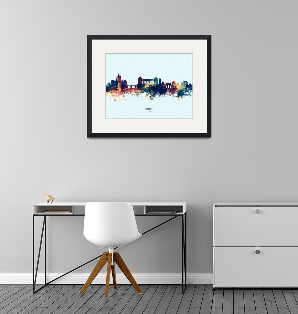 """Rome Italy Skyline""  (2019) by ModernArtPrints"