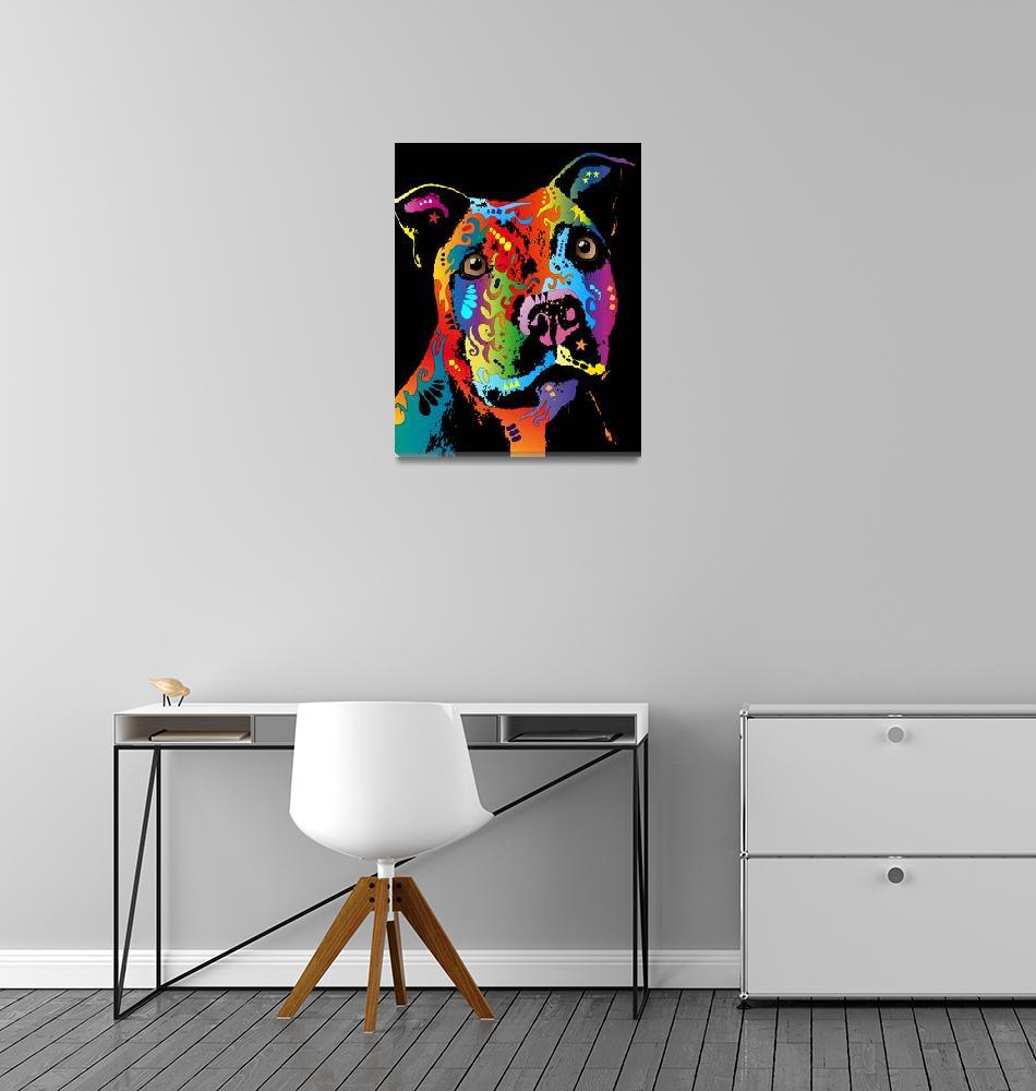 """Staffordshire Bull Terrier""  (2011) by ModernArtPrints"