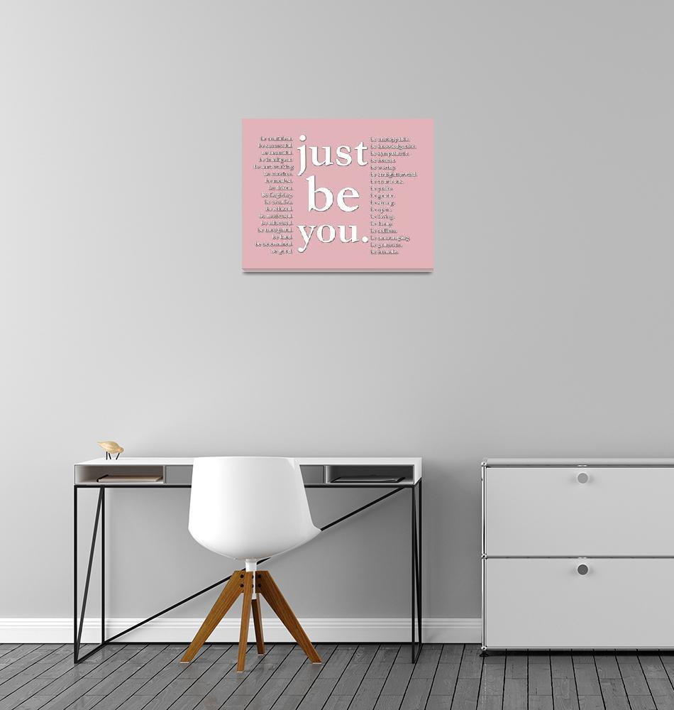 """""""just be you (pink)""""  (2011) by Happinessinyourlife"""