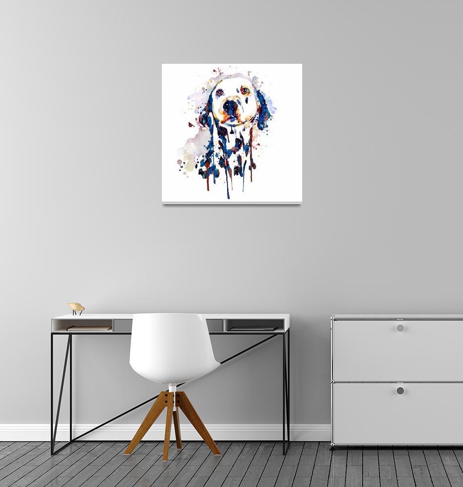 """Dalmatian Head""  (2017) by MarianVoicu"