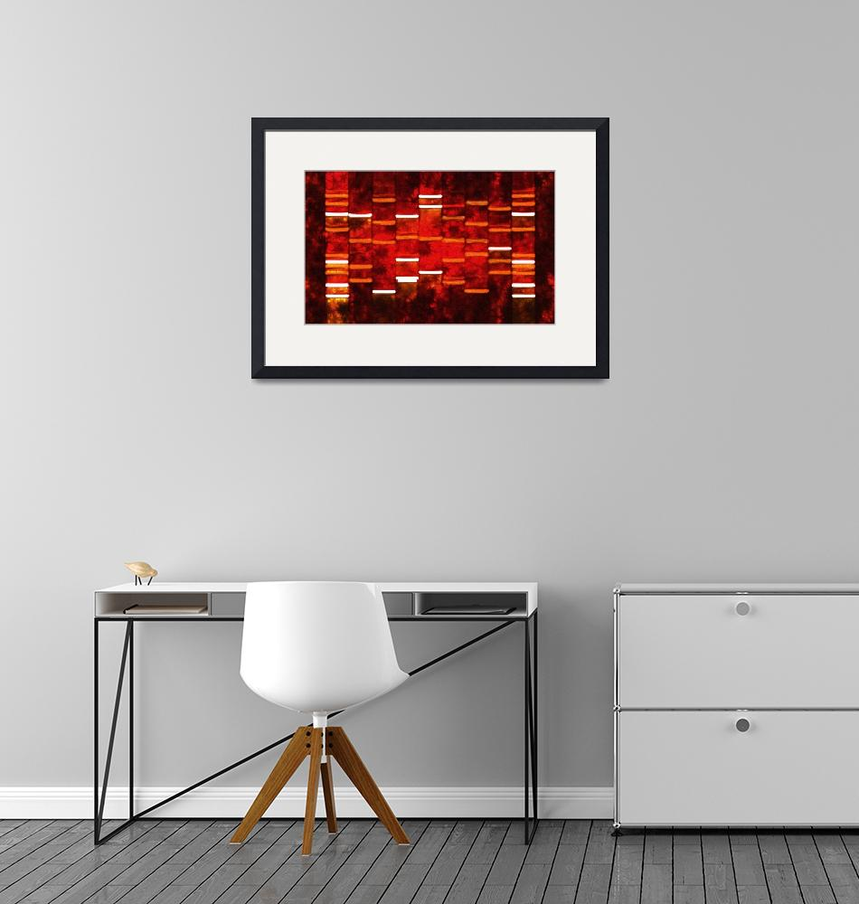 """Abstract Red DNA Art Paintings on Canvas""  (2010) by DNAartonline"