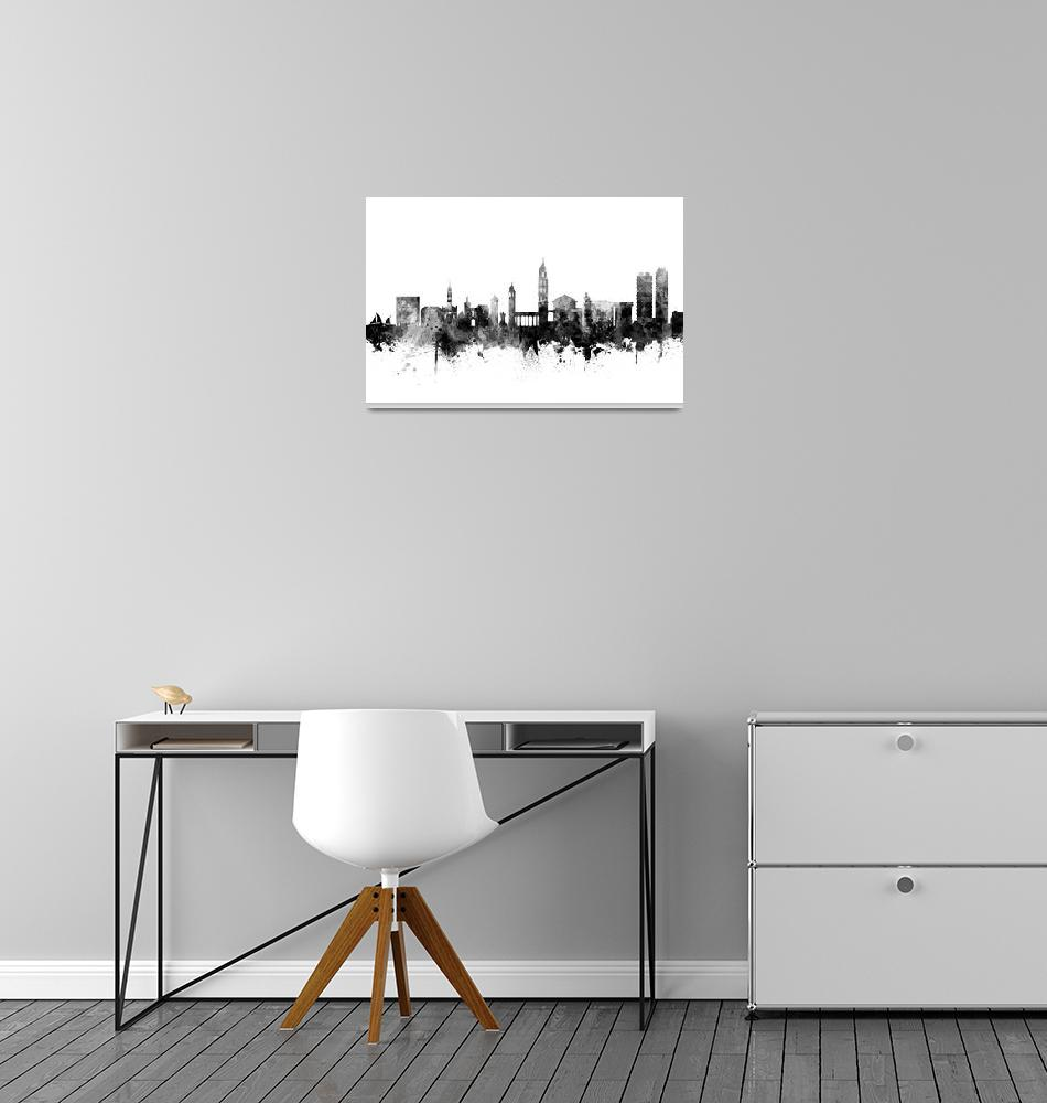 """Split Croatia Skyline""  (2018) by ModernArtPrints"